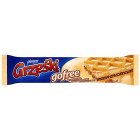 Вафлі Grzeski gofree ванільно-шоколадні зі шматочками горіхів 33 г