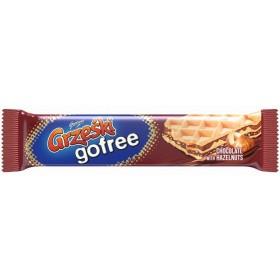 Вафлі Grzeski gofree зі смаком шоколаду та шматочками горіхів 33 г