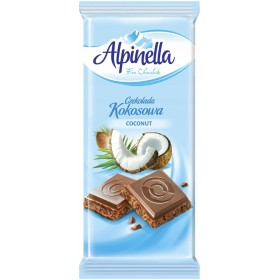 Шоколад Alpinella Kokosowa молочний з кокосом 90 г