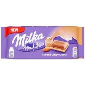 Шоколад Milka Almond Crispy Creme 90г