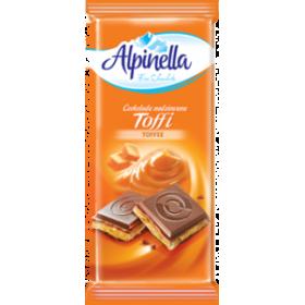 Шоколад Alpinella Toffi молочний з карамеллю 90 г