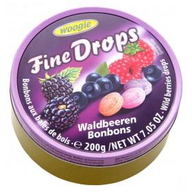 Цукерки Woogie Fine Drops лісові ягоди 200 г