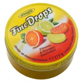 Цукерки Woogie Fine Drops лимон та апельсин 200 г