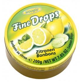 Цукерки Woogie Fine Drops лимон 200 г
