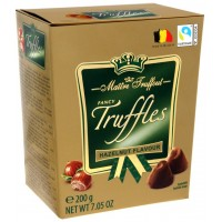 Цукерки трюфель Maitre Truffout Truffles Hazelnut лісовий горіх 200 г