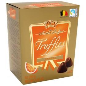 Цукерки Трюфель Maitre Truffout Orange зі смаком апельсину 200 г