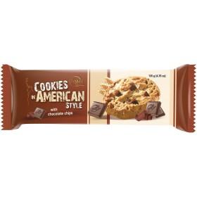 Печиво American Cookies with Chocolate Chips з шматочками шоколаду 135 г