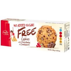 Печиво Free з пластівцями шоколадними чіпсами та журавлиною без цукру 135г