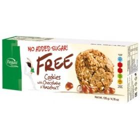 Печиво Free з пластівцями шоколадними чіпсами та горіхами без цукру 135 г