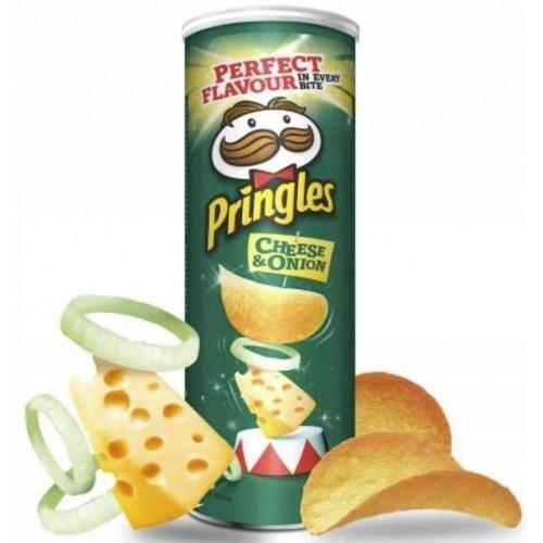 Чипси Pringles Cheese & Onion зі смаком сиру та цибулі 165 г
