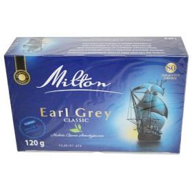 Чай Milton Earl grey Classic, 80 пакетів 120 г