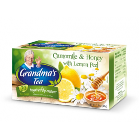 Чай Grandma's tea ромашка, мед та лимон в пакетиках 2г*20
